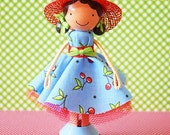 Nicole Miniature Wooden Clothespin Doll