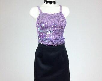 90's Byer Too! Black School Girl Side Slit Clueless Mini Skirt S - M // 5