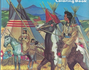 All About Indians Vintage Coloring Book, C1958