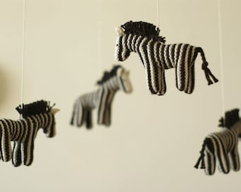 baby mobile - nursery mobile - zebra mobile - jungle mobile  - safari mobile - made to order