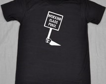 Punk T-Shirt Working Class Punx Protest Sign
