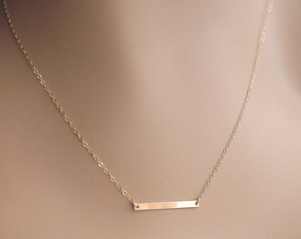 Gold Bar Necklace / Small Skinny Bar Necklace / Delicate Bar Necklace / Dainty Gold Necklace / Layering Bar Necklace/ New / Choker Necklace
