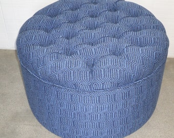 Round Tufted Storage Ottoman - Design Your Own To Suit Your Space