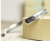 Custom Bracelet / Grad Gift / Inspirational Bracelet / Personalized Gifts / Going Away to College / Class of 2016 / Hand Stamped Cuff