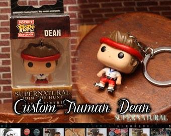 Supernatural Truman Bomber Dean Winchester - Custom Funko pop keychain