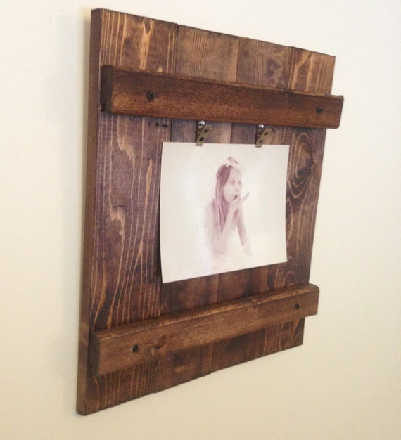 Wood Picture Frame Rustic Wall Decor Rustic Picture