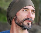 Men's Hat - Beanie - Slouchy Hat -Limited Edition Juniper Green - Organic Clothing  - Eco Friendly