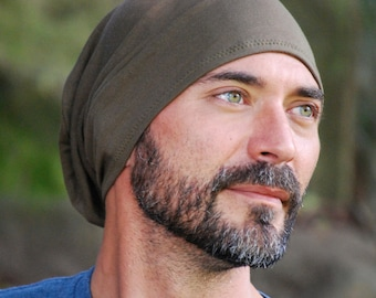Men's  Slouchy Hat - Limited Edition Juniper Green - Organic Clothing  - Eco Friendly - Father's Day