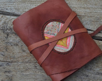 """Leather Journal / Handmade / Diary / 6""""X4"""" / FREE initials / LINED or Plain"""