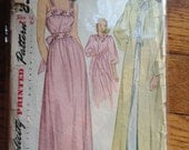 Vintage Simplicity 1798 Lingerie Night Dress Robe Sewing Pattern 30 Inch Bust