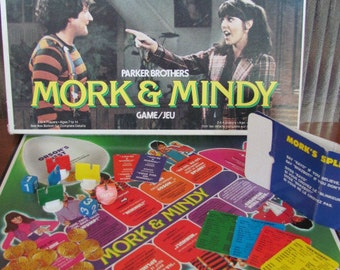 """Vintage """"Mork and Mindy"""" Board Game - 1979 - Parker Brothers - Game Night - 70's TV Show - Children - Youth - Robin Williams, Pam Dawber"""