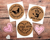 Handmade With Love Stickers, Packaging Labels, Made With Love Sticker