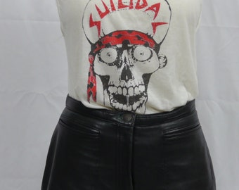 Rock and roll high waist Leather Shorts late 70s early 80s