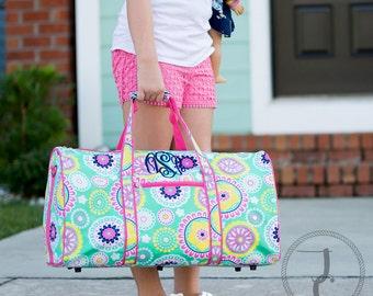 Monogrammed Duffle Bag, Personalized Duffle Bag, Kids Duffle Bag, Dance Bag, Sleepover Bag, Travel Bag, Sister Bag, Girls Duffle Bag, Piper