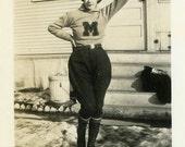 "Vintage Photo ""Meet the Mighty Michigan Molly"" Snapshot Antique Photo Black & White Photograph Found Paper Ephemera Vernacular - 43"