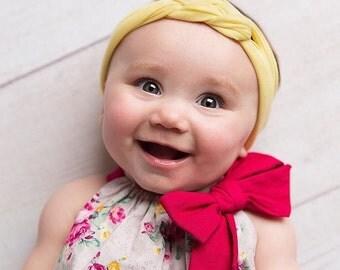 Pastel Baby Headband - Sailor Knot Headband - Jersey Baby Headwrap - No Squeeze Headband - Toddler Knot Turban - Baby Turban Headband