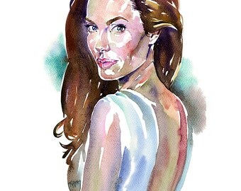 Angelina, limited edition fine art (giclée) print, 12 x 16 inches( 30.5 x 40.5 cm.)