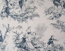 Popular items for toile de jouy on etsy - Papier peint toile de jouy rouge ...