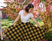 1950's Flannel High Waisted Circle Skirt By Aldens The Sportswear Store