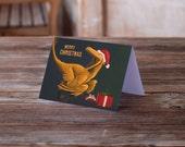 Happy Velociraptor Christmas Card