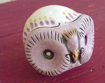 Owl Rattle Spirit Totem Altar Tool Decorative Ceramic Owl Fetish