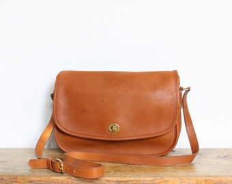 Vintage Coach Bag // City Messenger Bag British Tan 9790 // Coach Leather Handbag Purse