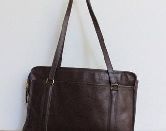 Vintage Coach Bag // Coach Tote Shopper Bag Brown // Coach Briefcase USA // Computer Laptop Bag
