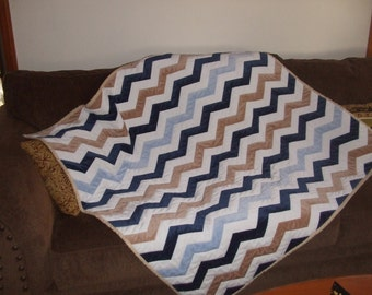 Chevron Throw Quilt