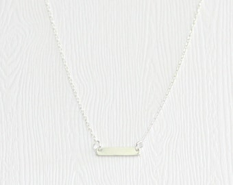 Sterling silver dash necklace