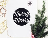 Merry Merry Christmas prints available in THREE sizes  8.5 x 11, 5x7, 4 x 6