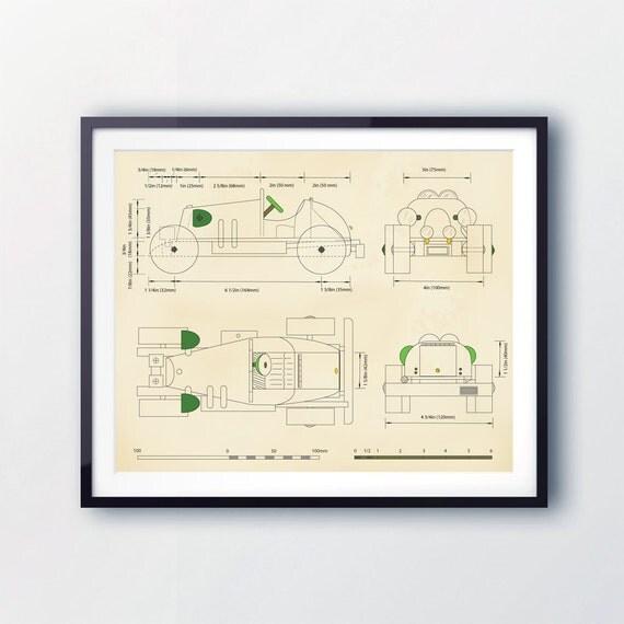 CAR WALL ART, Boys Rooms, Vintage racing car prints, boys room decor, car blueprints, nursery decor, boy toddler decor, cars illustration