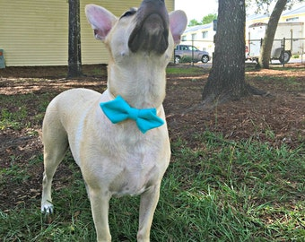 Solid Color Flannel Dog Collar Diamond Bowtie - Dog Collar Bow - Pet Accessory - Dog Clothes - Dog Accessories - Christmas Dog Bowtie