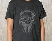 Kid's T-Shirt  - Blueprints of Millenium Falcon - American Apparel TriBlend T-Shirt - 2YR Through 10YR Sizes