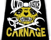 Love Justice Carnage Sailor Moon Back Punk Patches