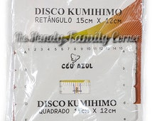 Kumihimo Japanese Braiding Disk, knitting Supplies, Braiding Tool, Kumihimo board Kumihimo loom rectangle tool for beading easy 15x12cm