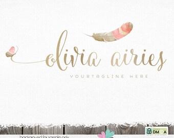 logos photography logo boho logo premade logo Flower logo butterfly logo feather logo logos and watermarks sewing logo premade logo designs