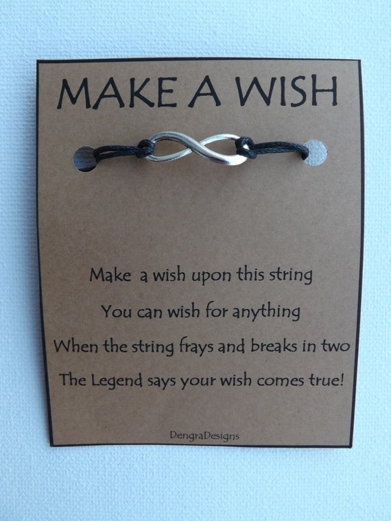 INFINITY Endless Loop WISH STRING Bracelet Charm Band Cord Color Choice Friendship Bracelet
