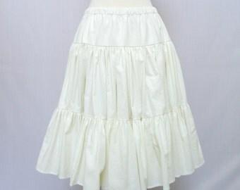 Knee Length Petticoat - White Cotton - Petticoat - 50s Style