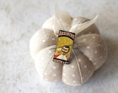 Absinthe Gentleman Needle Minder : rectangle magnet holder cross stitch hand embroidery tool