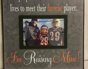 I'm Raising Mine Custom Picture Frame, Favorite Player, Sports Mom, Sports Dad, Football, Baseball, Basketball, School, Mom, Dad, Parents