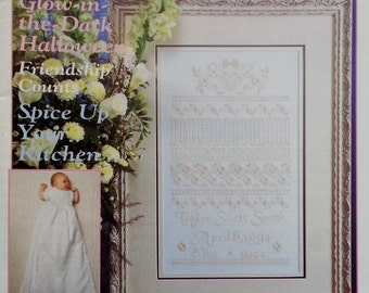 Stoney Creek Collection Magazine ROOSERVELT BIRTH SAMPLER September/October 1994 - Counted Cross Stitch Patterns