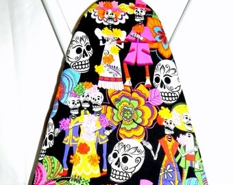 Ironing Board Cover - Sugar Skulls Fabric - Day of the Dead - Laundry and Housewares