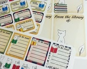 Library Cats~ Hand-Drawn Reading Tracker  Sticker Set With Book Plates For Planners and Books!