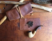 Workhorse Leather Pipe Pouch & Tobacco Mat * Cigar case * Tobacco pouch * Sorringowl and Sons
