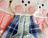 Fisher Price Bunny Replica dark blue plaid Lovey Security Blanket