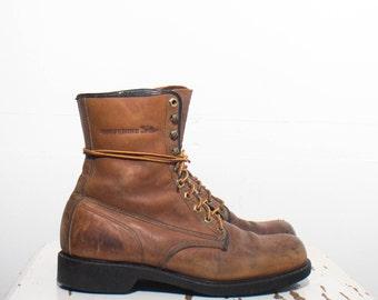 10 D | Men's Wolverine Round Toe Work Boots
