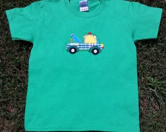 Boys T-shirt, Tow Truck, Personalized T-shirt, Truck T-shirt