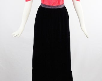 Vintage YVES SAINT LAURENT Editorial  Red Runway  Blouse  and Volumous Gypsy Skirt Russian Collection sz 38