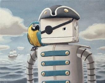 Dread Pirate Robot. signed art print.
