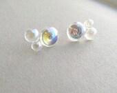 Bubble Stud Earrings, bubble bath, novelty earrings